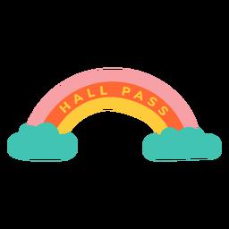 Etiqueta de arco iris de pase de pasillo