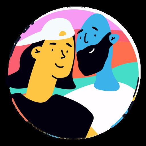 Happy lgbtq couple badge