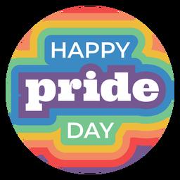 Insignia del día del orgullo feliz