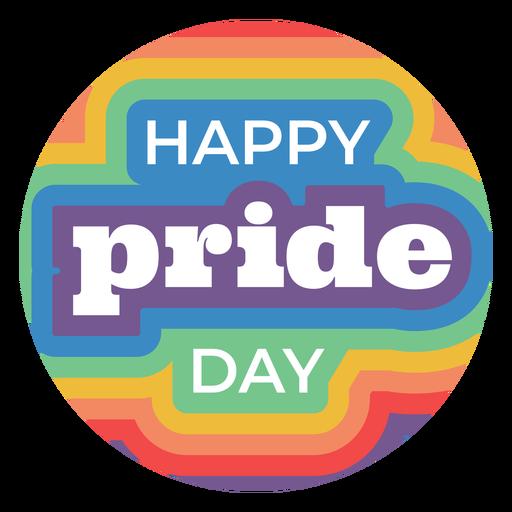 Insignia de feliz día del orgullo Transparent PNG