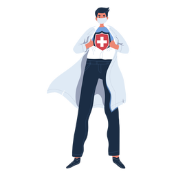 Personaje de doctor héroe