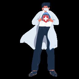 Personaje de héroe médico