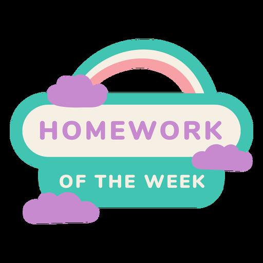 Homework of the week label