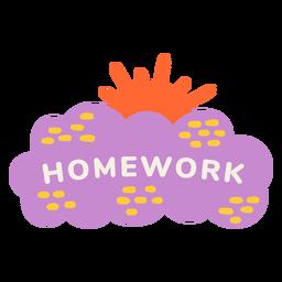 Homework sunny label