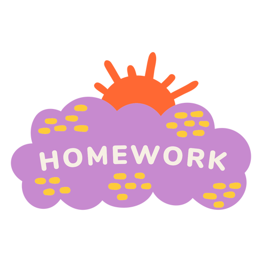 Etiqueta soleada de tarea