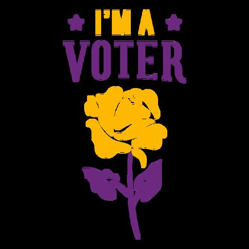 I am a voter badge