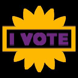 Eu voto distintivo