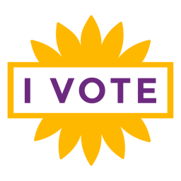 I vote badge