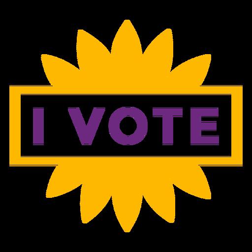 I vote badge