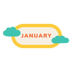 January cloud label