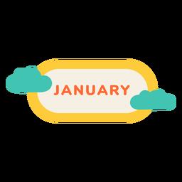 Rótulo de nuvem de janeiro