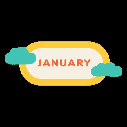 Etiqueta de nube de enero