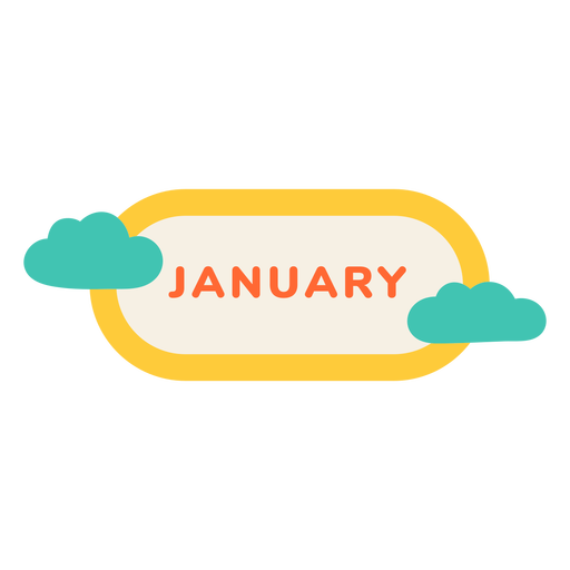 January cloud label