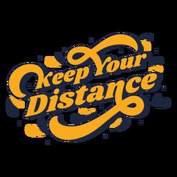 Mantenha a distância das letras