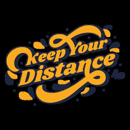 Mantenga sus letras de distancia