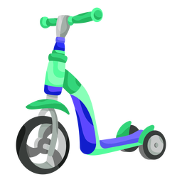 Kid tricycle illustration