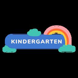 Etiqueta arco-íris de jardim de infância