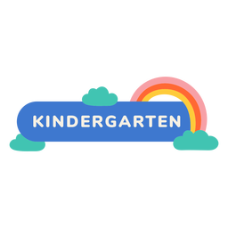 Kindergarten rainbow label