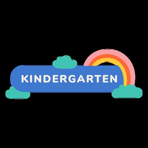 Kindergarten rainbow label