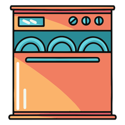 Kitchen dishwasher illustration