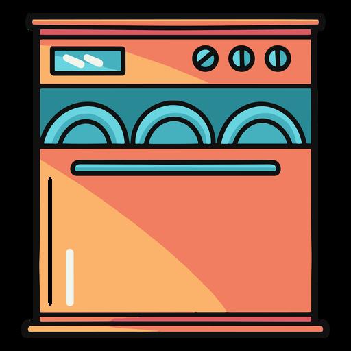 Kitchen dishwasher illustration Transparent PNG