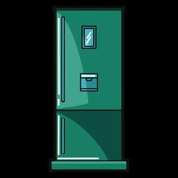 Ilustração de geladeira de cozinha