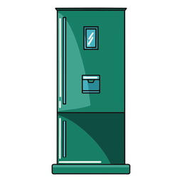 Kitchen fridge illustration