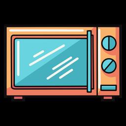 Ilustración de microondas de cocina