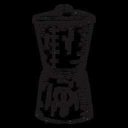 Mezclador de cocina detallado dibujado a mano