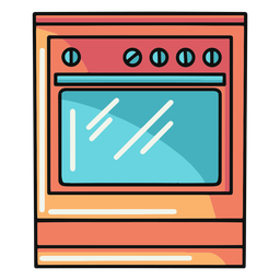 Ilustración de horno de cocina