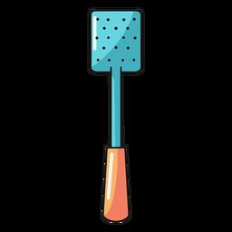 Ilustración de skimmer de espátula de cocina