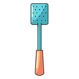 Kitchen spatula skimmer illustration