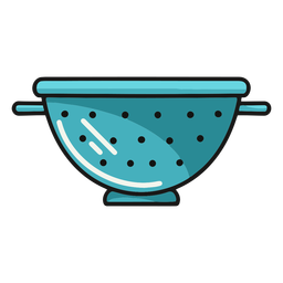 Ilustración de colador de cocina