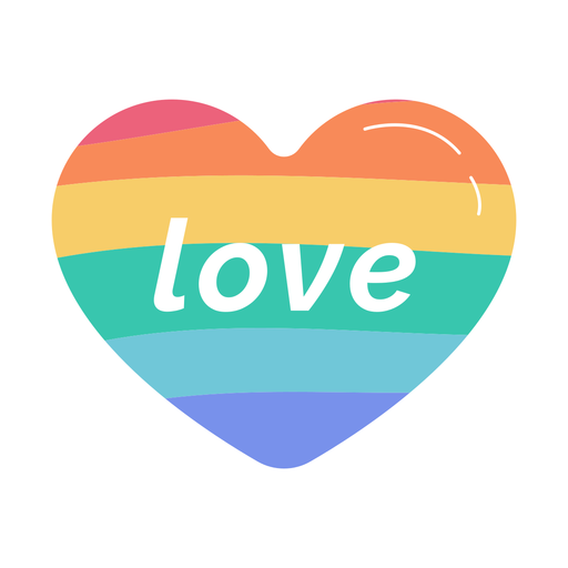 Love rainbow heart sticker