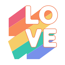 Adesivo arco-íris de amor