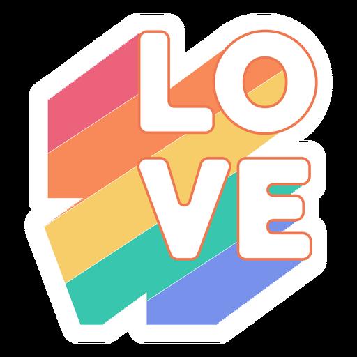 Adesivo de amor arco-íris