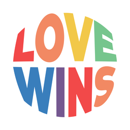 Love wins badge