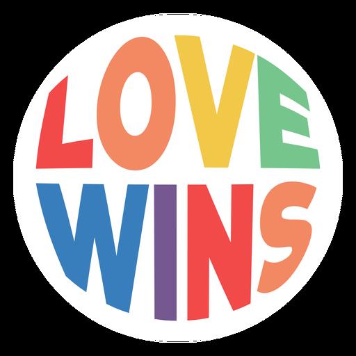 El amor gana la insignia Transparent PNG