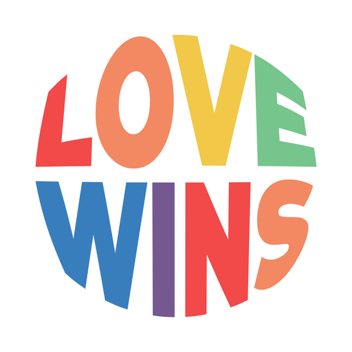 Love wins badge Transparent PNG