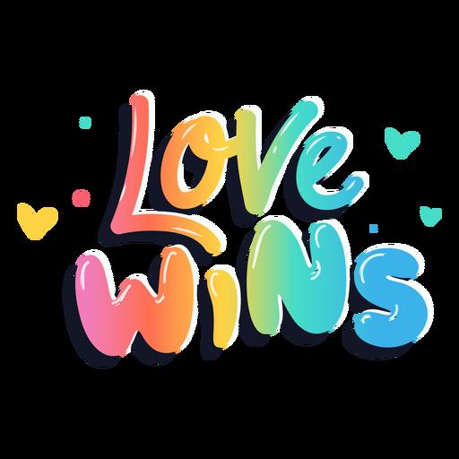 Liebe gewinnt Schriftzug