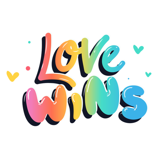 Love wins lettering Transparent PNG