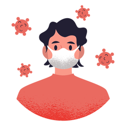 Man with facemask character