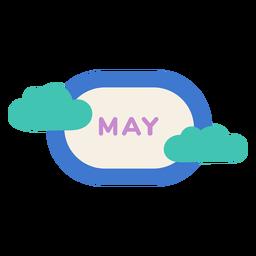 Etiqueta de nube de mayo