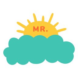Etiqueta de nube de nombre de profesor señor