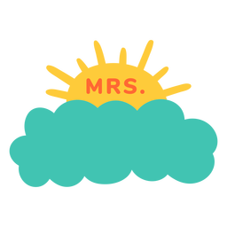 Mrs teacher name cloud label