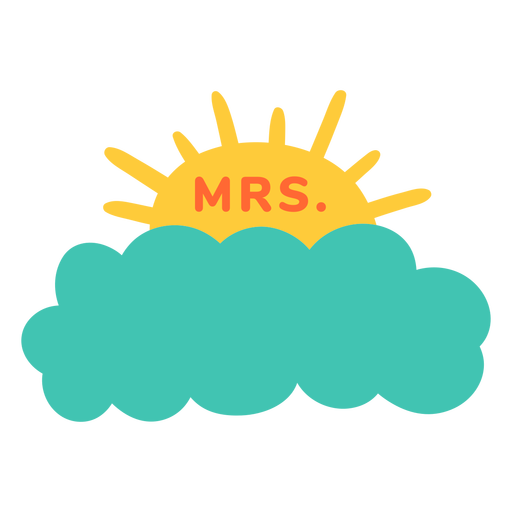 Mrs teacher name cloud label
