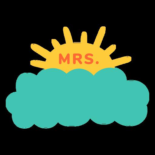 Sra. Maestra nombre nube etiqueta