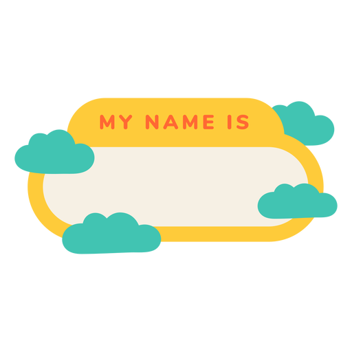 My name is cloudy label