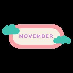 Etiqueta de la nube de noviembre
