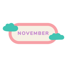 November cloud label